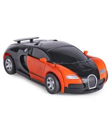 IndiaBuy Friction Powered Transformer Bugatti Toy Car - Orange Black
