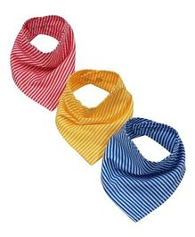 Wobbly Walk Bandana Style Printed Bibs Pack of 3 - Multicolour