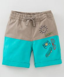 074b31491e3 Babyoye Cotton Drawstring Waist Shorts Great Print - Blue