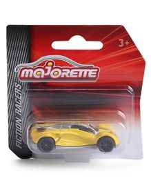 Majorette Friction Powered Racer Toy Car - Yellow