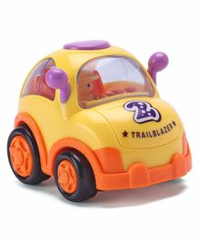 IndiaBuy Friction Powered Toy Taxi Car - Yellow