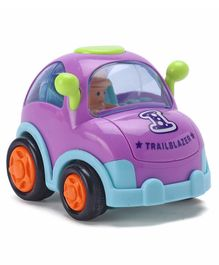 IndiaBuy Friction Powered Toy Taxi Car - Purple