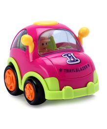 IndiaBuy Friction Powered Toy Taxi Car - Pink