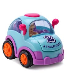 IndiaBuy Friction Powered Toy Taxi Car - Blue
