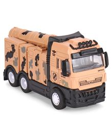 IndiaBuy Army Missle Truck Metal Pull Back with Light & Music - Peach