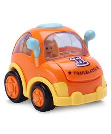 IndiaBuy Friction Powered Toy Taxi Car - Orange