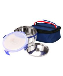 Falcon SOP Double Wall Stainless Steel Container with Case - Navy