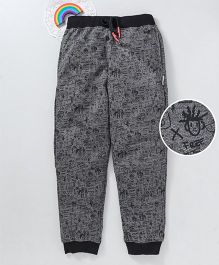 Bonkerz Printed Full Length Lounge Pants - Black & Grey
