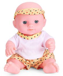 IndiaBuy Darling Lovely Baby Doll Yellow and White - Height 12.5 cm