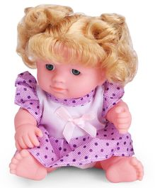 IndiaBuy Darling Lovely Baby Doll Purple - Height 12.5 cm
