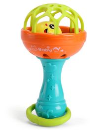 IndiaBuy Shakebell Rattle Blue Orange - Length 12.5 cm