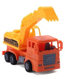 IndiaBuy Pull Back Construction JCB Truck - Yellow Orange