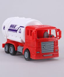IndiaBuy Pull Back Action Oil Tank Toy - Red White