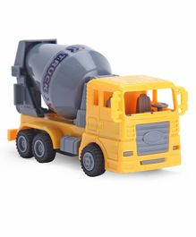 IndiaBuy Pull Back Construction Cement Mixer - Yellow