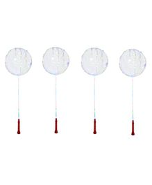 Toy Jumble Glowing Transparent LED Balloons Pack of 4 - Multicolour
