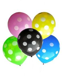 Toy Jumble Polka Dotted LED Balloons Pack of 5 - Multicolour