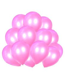 Toy Jumble Solid Colour Balloons for Decorations And Parties Pink - Pack of 35
