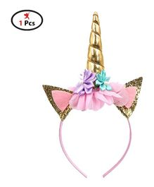 Party Propz Unicorn Themed Head Band - Golden