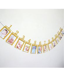 Ziory First Birthday Banner - Golden