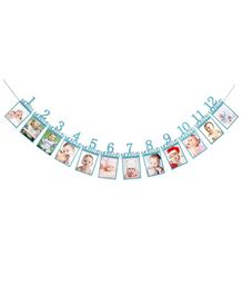 Ziory First Birthday Banner - Blue