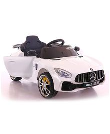 GetBest Battery Operated Ride On Car - White