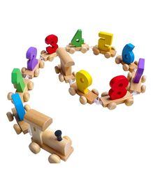 Vibgyor Vibes Wooden Mini Digital Number Train Toy - Multicolour