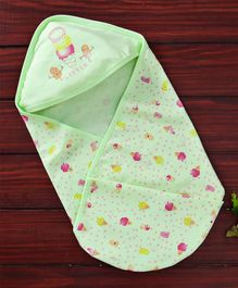 Simply Hooded Wrapper Ice Cream Print - Green