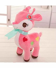 Skylofts Deer Soft Toy Pink - Height 28 cm