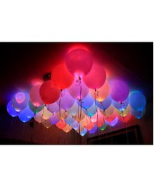 Skylofts Led Balloons Pack of 25 - Multicolour
