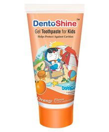 DentoShine Doraemon Orange Flavoured Gel Toothpaste - 80 gm