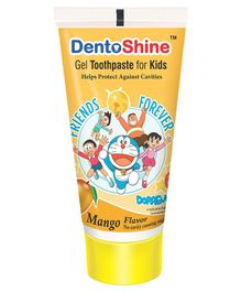 DentoShine Doraemon Mango Flavoured Gel Toothpaste - 80 gm