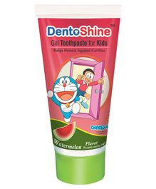 DentoShine Doraemon Watermelon Flavoured Gel Toothpaste - 80 gm