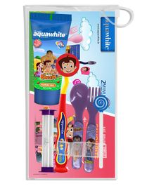 Aquawhite Chhota Bheem Eat, Brush, Smile Strawberry Gift Pack (Color May Vary)