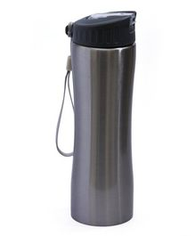 Pix Stainless Steel Water Bottle With Strap Grey - 550 ml