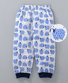 Mini Taurus Full Length Lounge Pant Sheep Print - Blue & White