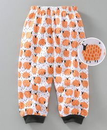 Mini Taurus Full Length Lounge Pant Sheep Print - Orange & White