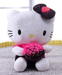 Dimpy Stuff Hello Kitty with Donuts Soft Toy Pink - Height 24 cm