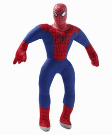 Dimpy Stuff Spider Man Soft Toy With PVC Face Blue - Height 40 cm