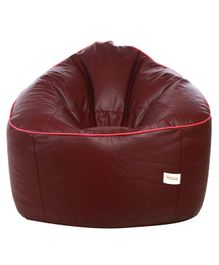 Sattva Muddha Sofa Style Bean Bag Cover Without Beans XXXL - Maroon