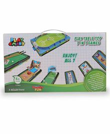 Playsmart Play Table Top 7 in 1 Game - Green