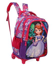 Disney Sofia the First Trolley School Bag Purple - Height 17 inches