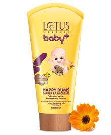 Lotus Herbals Baby Plus Happy Bums Diaper Rash Creme - 100 grams