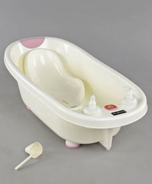 Babyhug Baby Bath Tub & Bath Sling With Bathing Mug - Pink