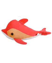 Ultra Dolphin Soft Toy Orange - Length 40 cm
