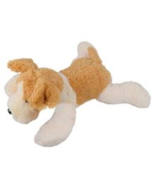 Ultra Lying Dog Soft Toy Beige - Height 35.5 cm