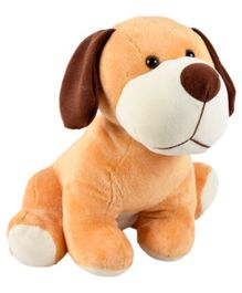 Ultra Sitting Dog Soft Toy Beige - Height 30.4 cm