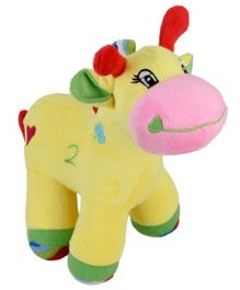 Ultra Giraffe Soft Toy With Rattle Sound Yellow - Height 22.8 cm