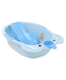 Large Size Baby Bath With Bath Rack - Blue