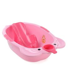 Large Size Baby Bath With Bath Rack - Pink
