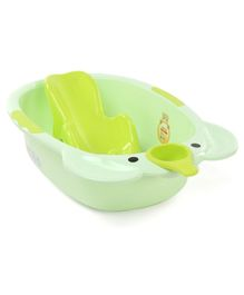 Large Size Baby Bath With Bath Rack - Green